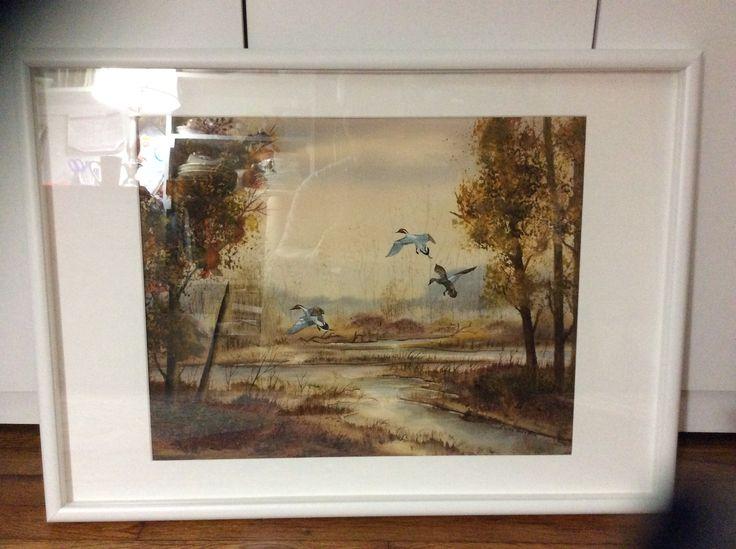 Elaine Hoffman's masterpiece, watercolor, signed