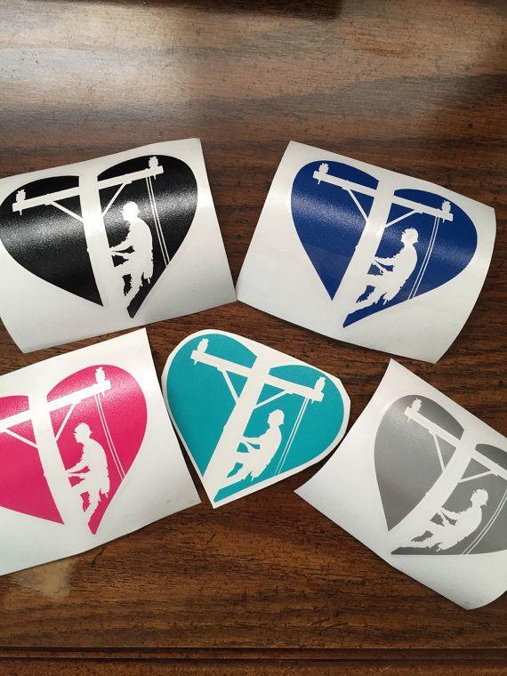 3 Vinyl Lineman Love decal by LinemanLove on Etsy