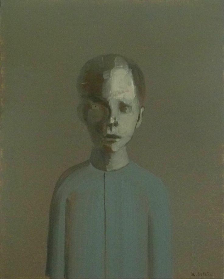 Alexander Bobkin, Vandyke brown, oil on canvas 100x80 cm