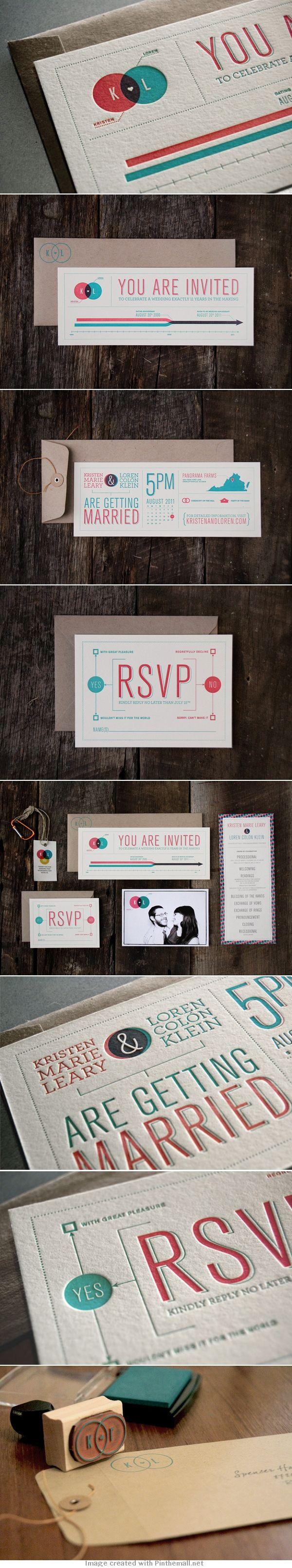 K+L Wedding Invitations
