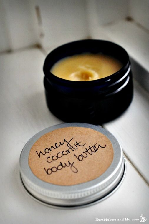 How to Make Honey Coconut Body Butter http://diyhomesweethome.com/how-to-make-honey-coconut-body-butter/