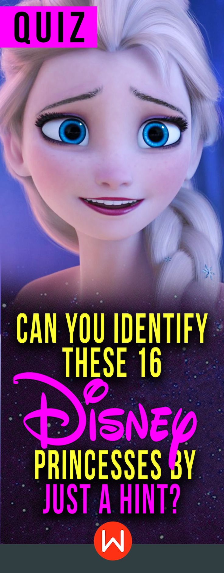 Disney Quiz: Can you name the Disney Princess just by a hint? Let's see if you a Disney expert. Disney test, Disney knowledge test, Disney trivia question, Disney princesses game.