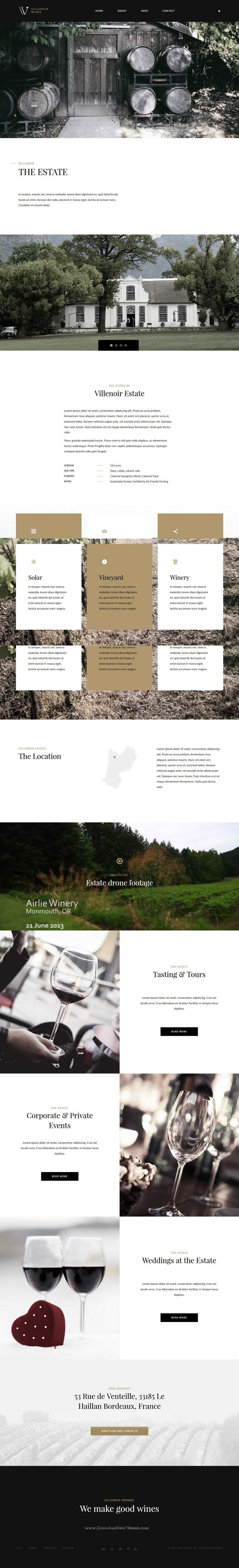 Villenoir is beautifully crafted #WordPress theme best suitable for #vineyard, winery and wine #websites.