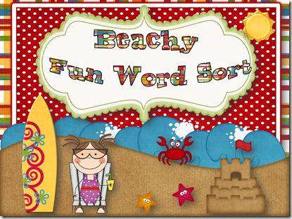 /ee/ and /ea/ beachy word sort