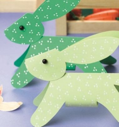 Easy DIY dimensional paper bunnies - Easter craft for kids // Egyszerű papír nyuszi nyomtatható sablonnal - húsvéti ötlet gyerekeknek // Mindy - craft tutorial collection // #crafts #DIY #craftTutorial #tutorial