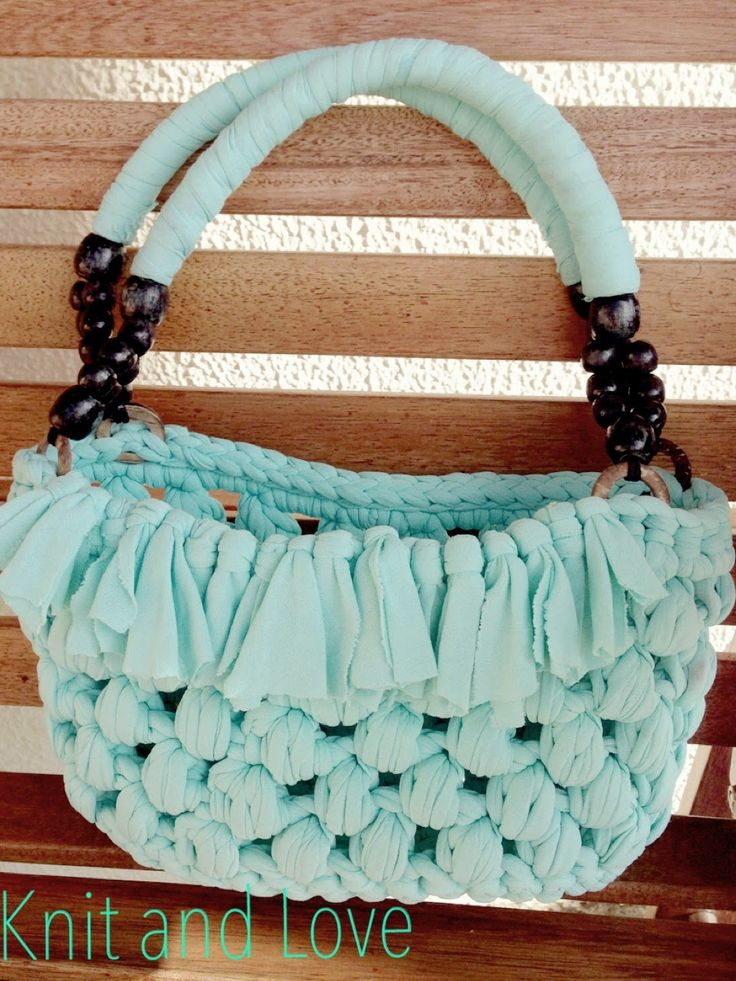 BOLSO TRAPILLO PUNTO PUFF / Knit and Love