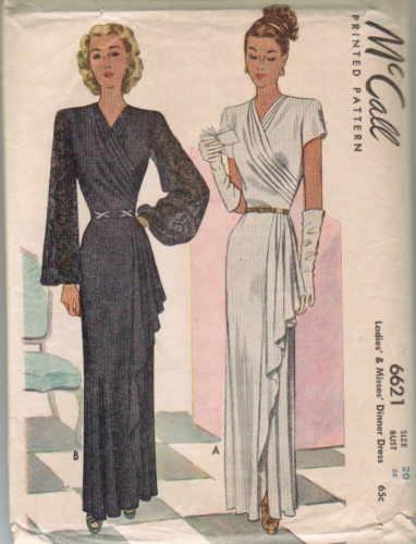 Beautiful 1940's McCalls pattern