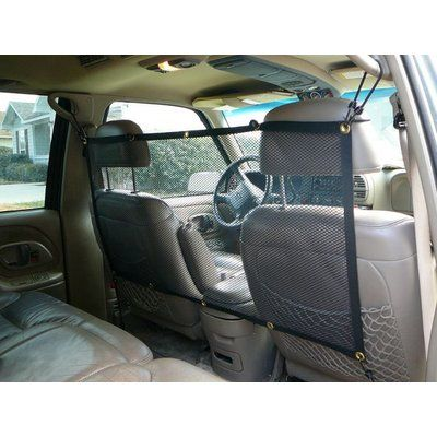 Mesh Vehicle Pet Barrier - Great for summer travels with your pet! Found at www.dogids.com - $42