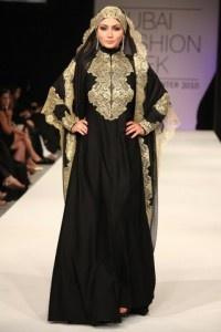 Black Abaya with a lace veil