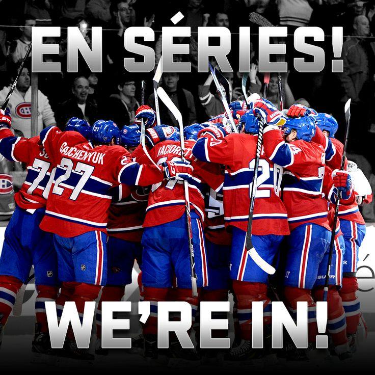 Suite aux défaites des Capitals et des Devils, les Canadiens sont maintenant officiellement en séries! / Because the Capitals and Devils both lost tonight, the Canadiens have officially clinched a playoff spot! #GoHabsGo