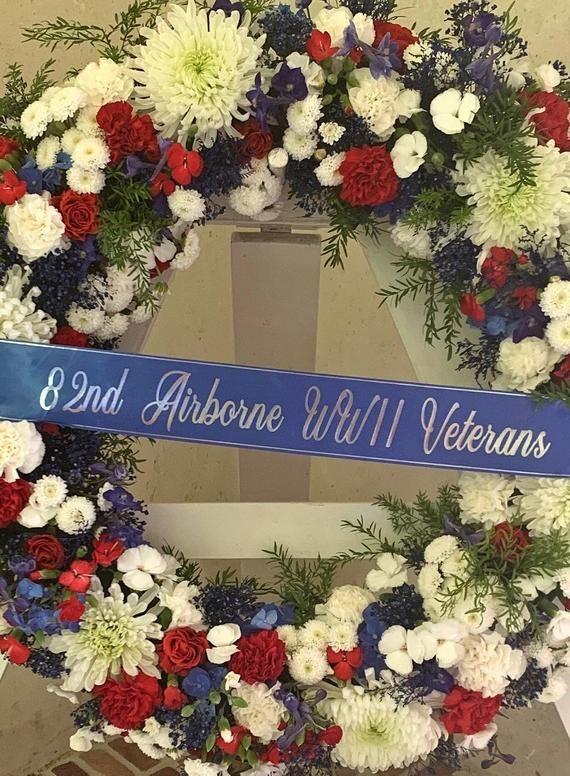 Funeral Ribbon Memorial For Cemetery Flowers
