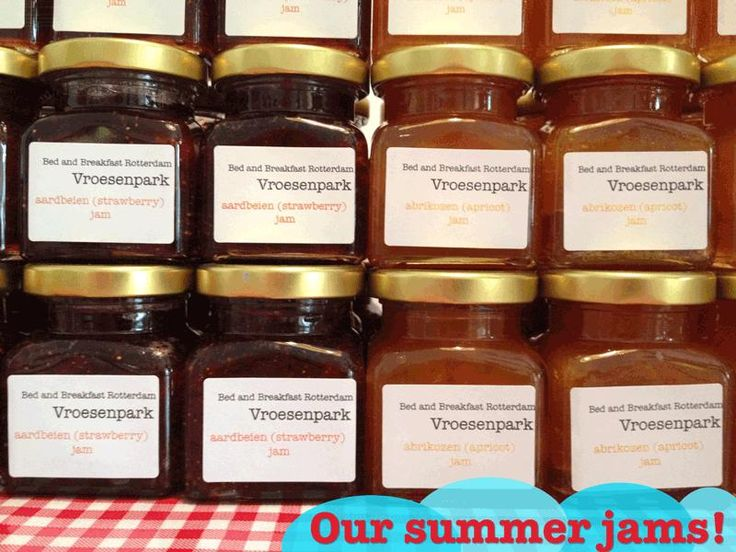 The homemade jams of Bed and Breakfast Rotterdam Vroesenpark (http://www.bedandbreakfastrotterdam.net)