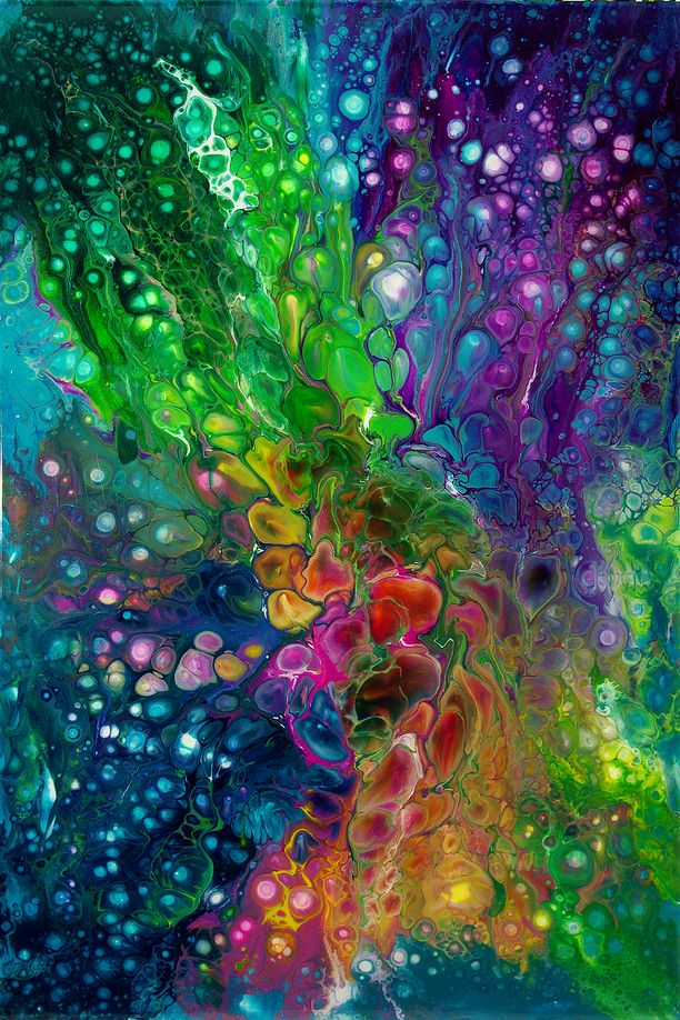 Abstract art painting with yummy colors. Maria Brookes
