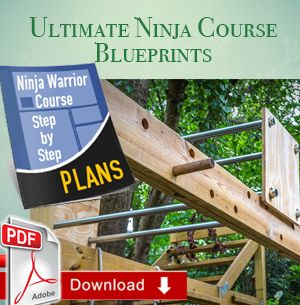 Whether you are serious about becoming the first American Ninja Warrior, or you would just like to surprise your kids with the coolest present ever, the Ultimate ANW Backyard Blueprint is exactly what you need to have a complete and super-compact course in your own backyard. Our original