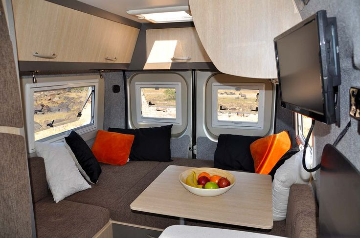 Compact but comfortable, the Melaleuca by Horizon Motorhomes has a dinette that converts into single beds, a double or king. How's that for versatility?  #HorizonMotorhomes