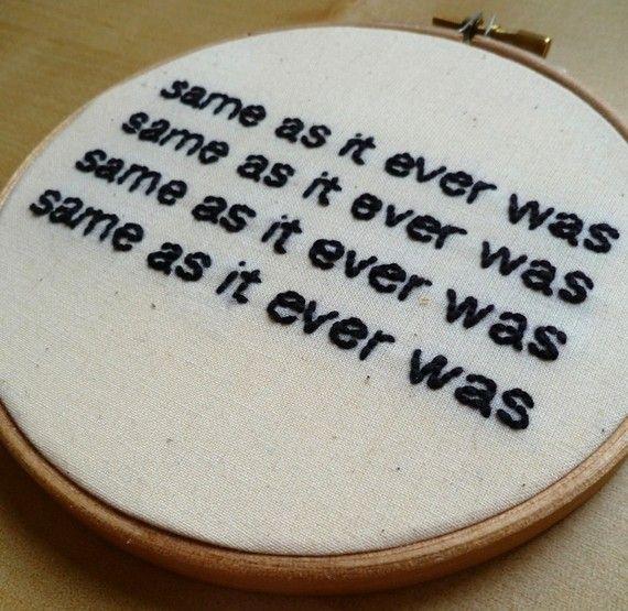 "Talking Heads ""Once in a Lifetime"" Lyrics    Etsy"
