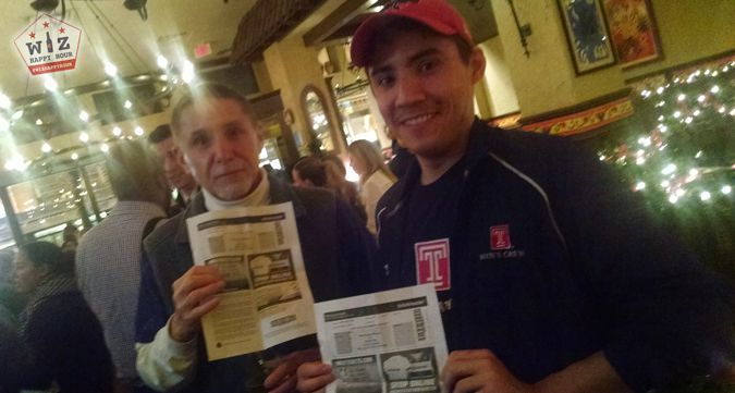 Two more ticket winners picked up free tickets to the Washington Wizards vs Miami Heat at La Tasca for Wiz Happy Hour!