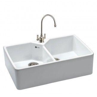 350 belfast ceramic double bowl kitchen sink - Double Ceramic Kitchen Sink