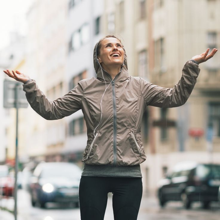 Downpour or drizzle, you can run in the rain when you wear the right gear.