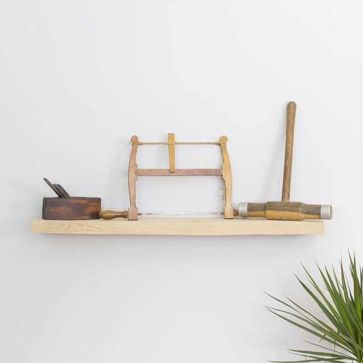 Oak Floating Shelf – Industrial Sawn Raw Oak 100mm-250mm Deep