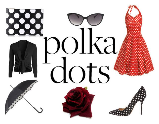 """Polka Dot Dress"" by gothicvamperstein on Polyvore featuring Oscar de la Renta, Fulton, Victoria Beckham, NIC+ZOE and PolkaDots"