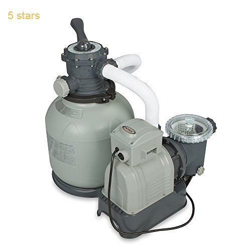 Intex Krystal Clear Sand Filter Pump for Above Ground Pools 2800 GPH Pump Flow Rate 110-120V with GFCI