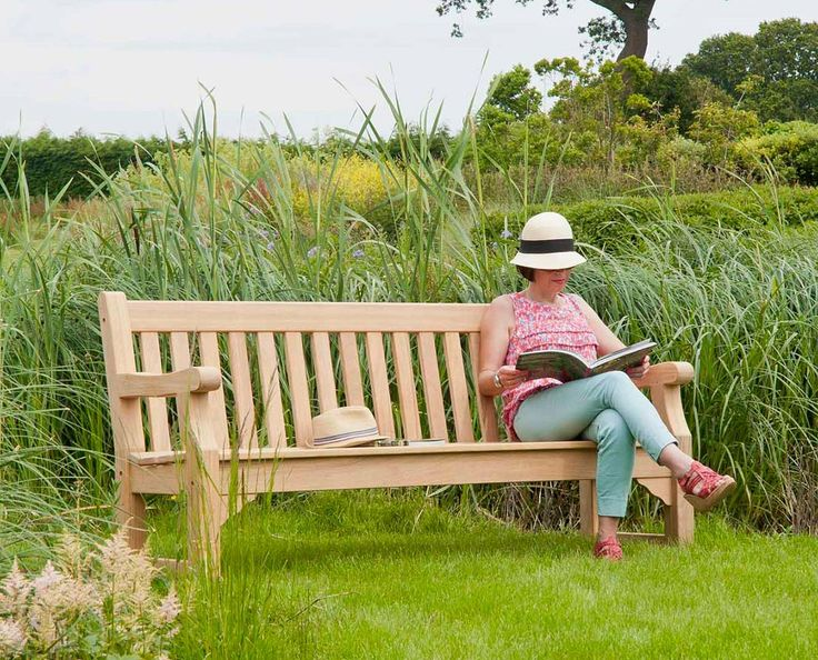 Alexander Rose Roble Park Bench 6ft with Free Brass Plaque Link; http://www.hayesgardenworld.co.uk/product/alexander-rose-roble-park-bench-6ft-free-brass-plaque