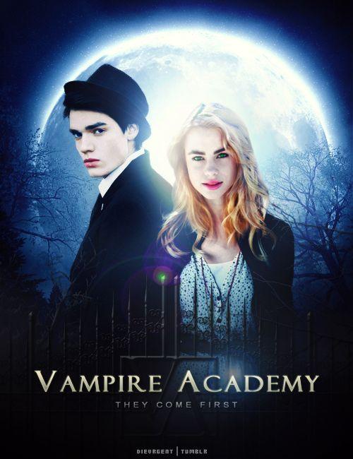 Vampire Academy:  Dominic Sherwood as Christian Ozera and Lucy Fry as Lissa Dragomir