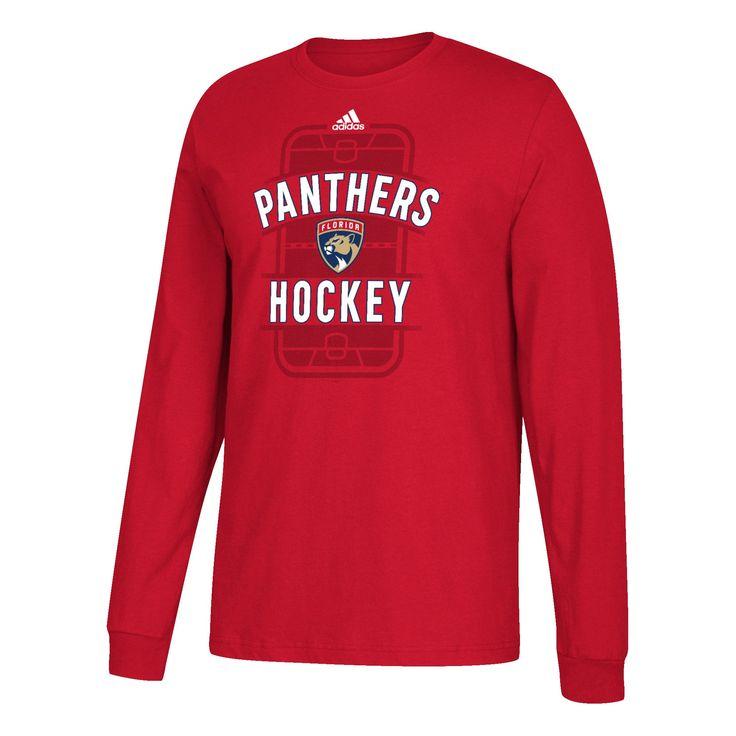 Florida Panthers adidas Panthers Hockey Red Long Sleeve T-Shirt
