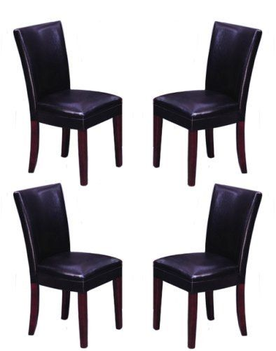 4 Mitchell Parson Side Dining Chairs By The Furniture Cove 29988 18 Wide X 17 Deep 38 High Made With Vinyl Material Seat