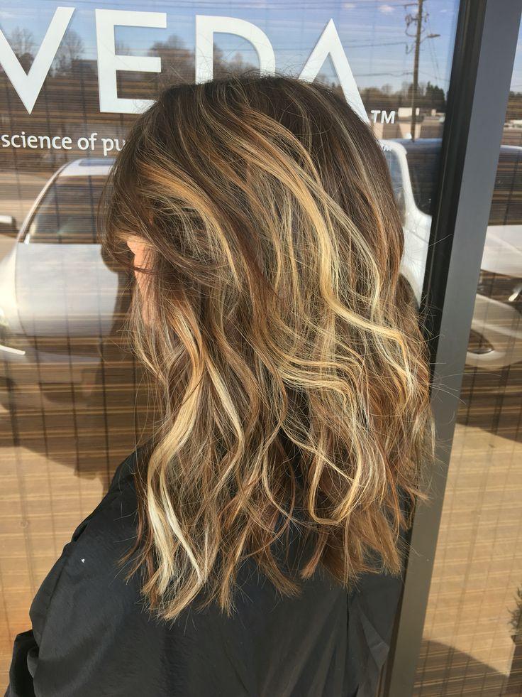 Ash and carmel balayage on brunette hair ❤️ #ashblonde #carmel #balayage #aveda