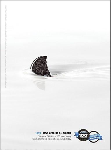 Oreo history print ad campaign