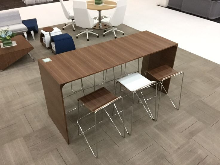 Avelina Table By @arcadiacontract And Wake Stools By Encore | NeoCon East  2014 | Pinterest | Stools