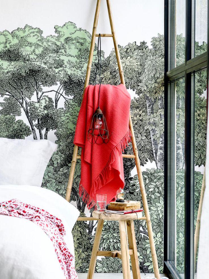 behang rebel walls - bamboe ladder nijhof - plaid bijenkorf