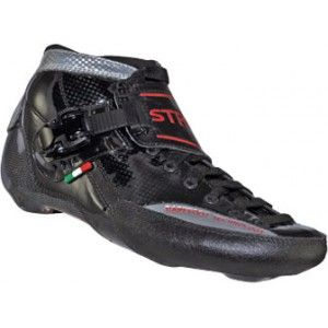 Luigino Strut Black/Silver/Red Inline Speed Skate Boot (Close Out Sale)