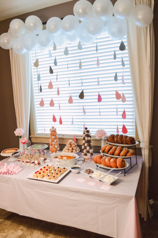 pink & gray baby shower.. like that color concept for a baby girl.