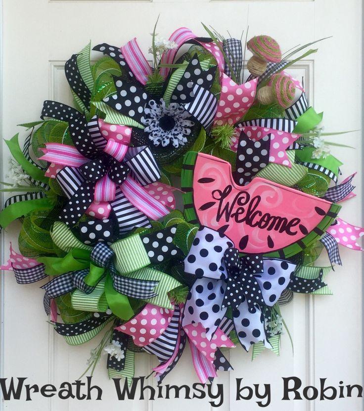 Best 25+ Summer deco ideas on Pinterest   Mesh wreaths ...
