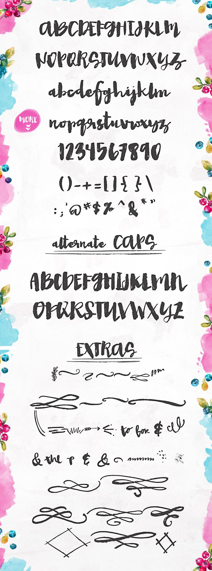 Hand Painted Fonts Modern Brush Lettering | angiemakes.com