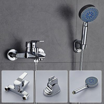 Wannenarmatur Einhebelmischer Badewanne Armatur mit Handbrause Set Duschsystem