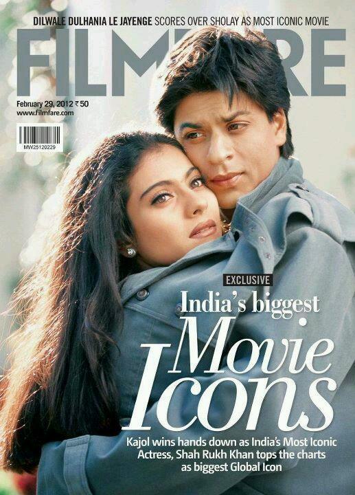 Shahrukh Khan and Kajol - Filmfare magazine February 29, 2012