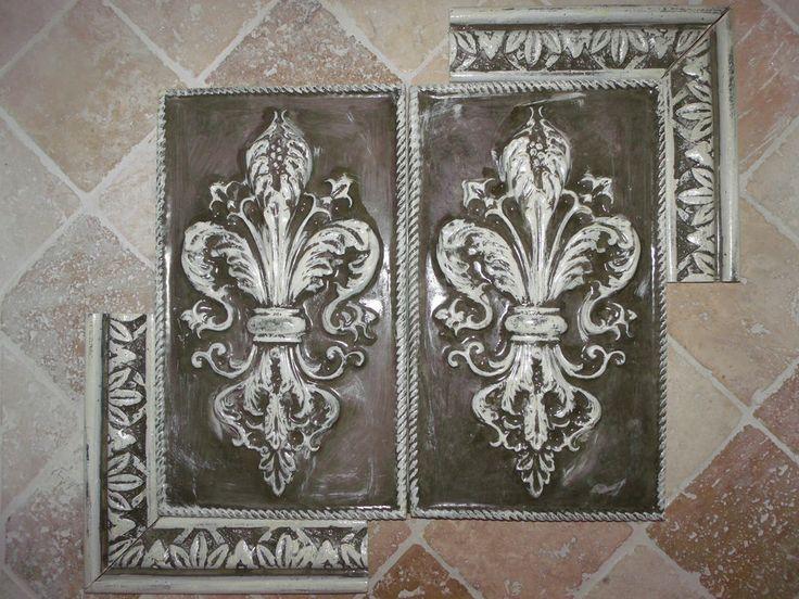 266 best kitchen backsplash floor tile images on for Kitchen cabinets lowes with fleur papier crepon