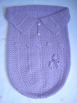 Minhas linhas e eu: Saco para bebê em crochet - baby cocoon