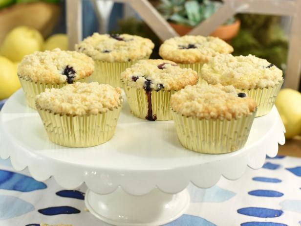 Get Lemon Blues Muffins with Crumble Topping Recipe from Food Network