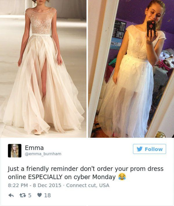 Spectacular Teens Are Sharing Prom Dresses They Regret Buying Online And It us Hilarious http