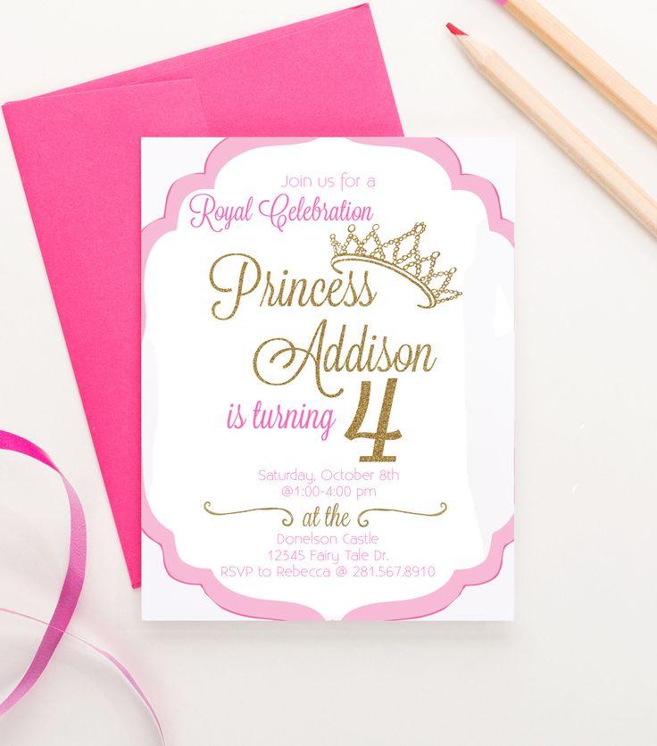 Best 25 Princess birthday invitations ideas – Party Invitation Paper