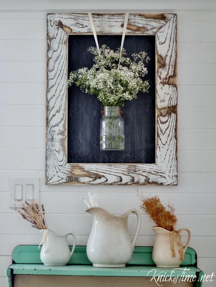 DIY Farmhouse Rustic Wooden Frame