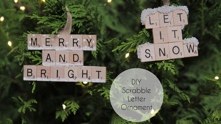 Track down some scrabble letters because you're going to need them for this tutorial! A DIY Scrabble letter ornament makes a great addition to the tree! Be sure to make a sassy one for any grinches out there!