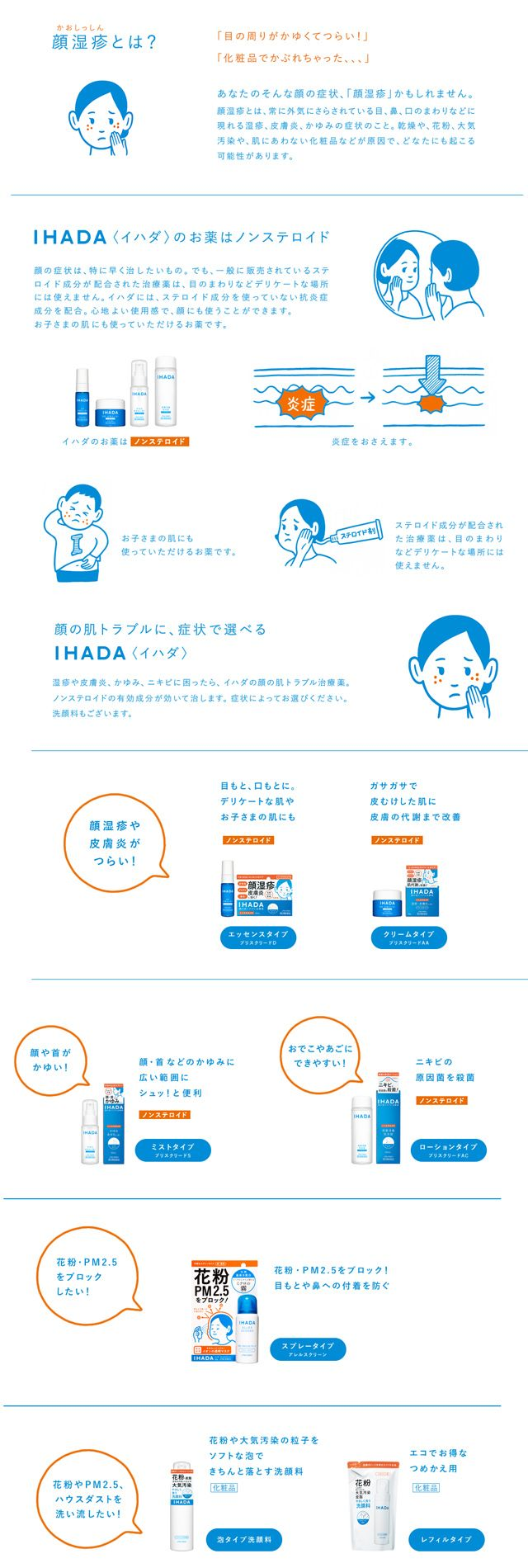 Noritake資生堂のノンステロイドの顔のハダトラブル治療薬「IHADA<イハダ>」資生堂IHADA