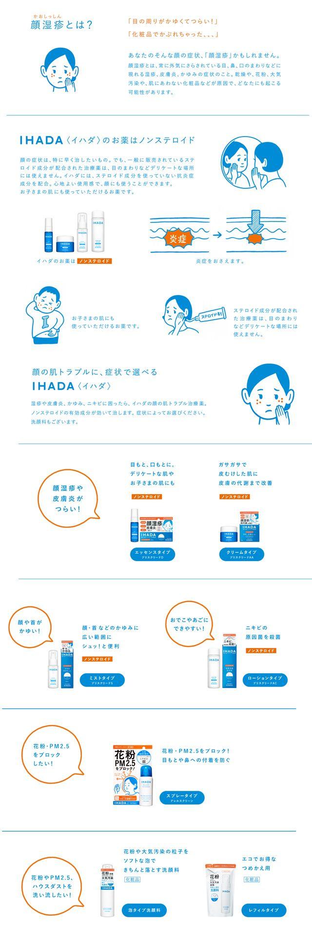 Noritake 資生堂のノンステロイドの顔のハダトラブル治療薬「IHADA」 資生堂IHADA
