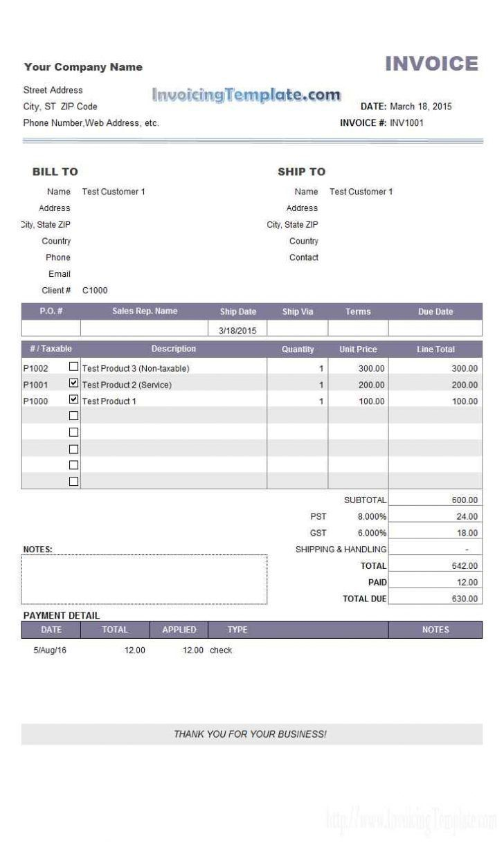 Invoice template with credit card payment option report